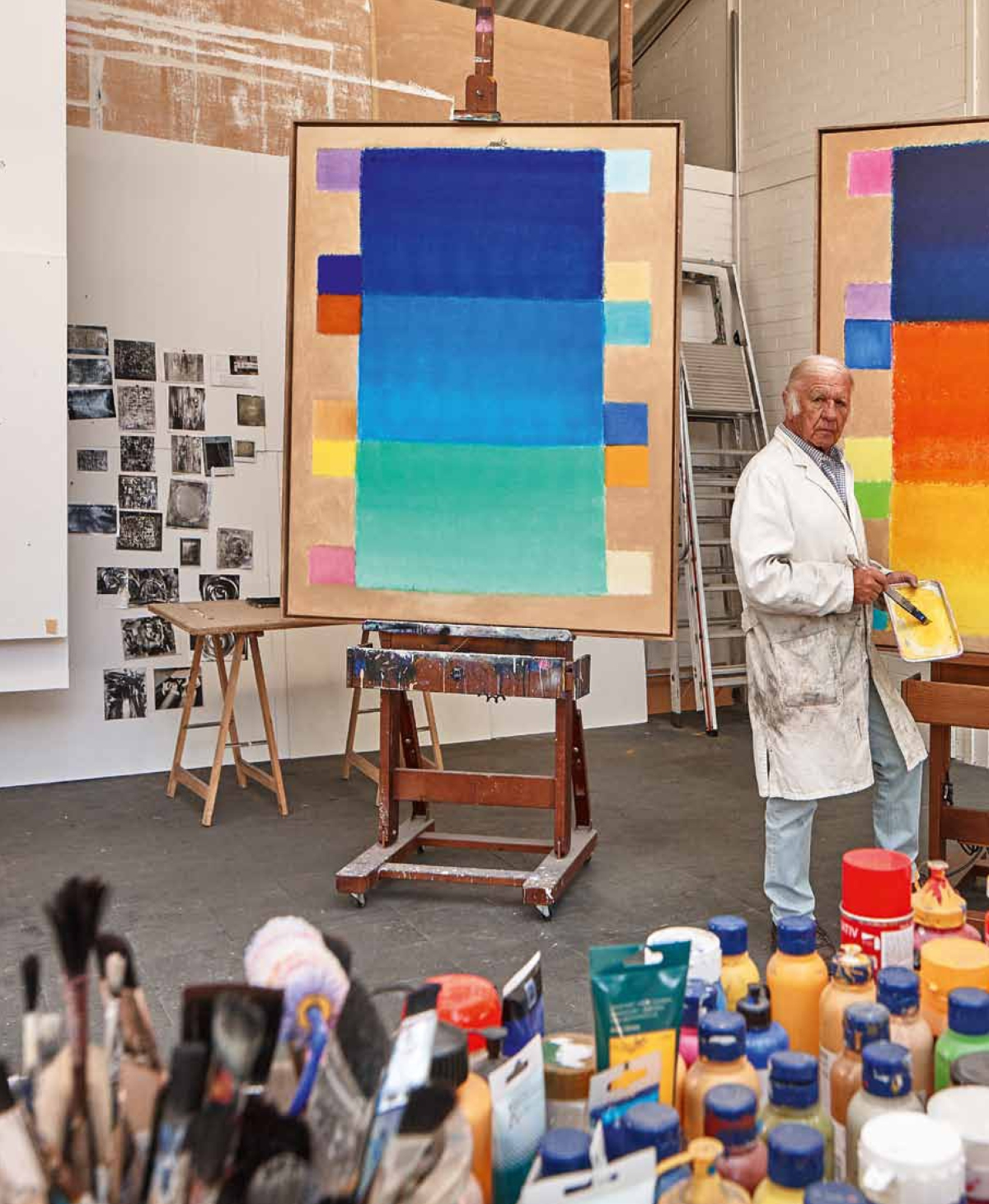 In his studio 2015